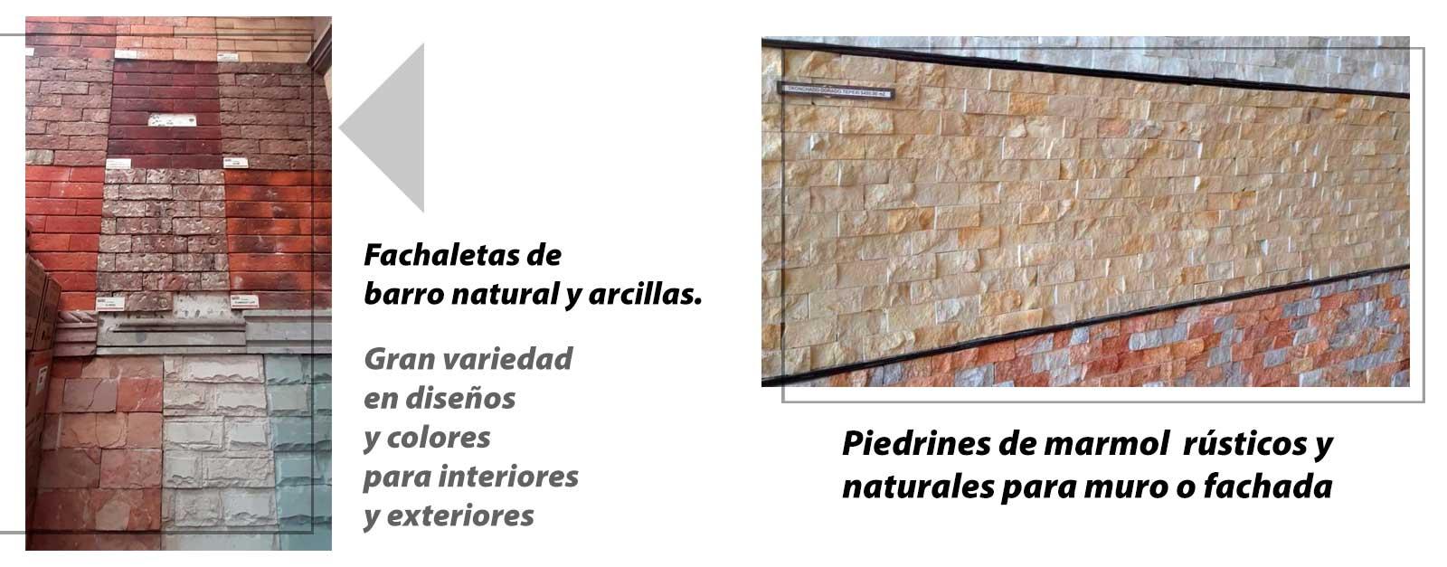 Fachaletas y ìedrines para vinteriores y exteriores